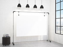 Portable board in the room Royalty Free Stock Photo