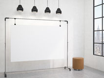 Portable board in the room Royalty Free Stock Photos