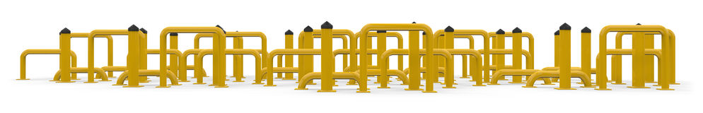 Portable bollards Stock Images