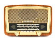 Portable brown retro radio receiver Royalty Free Stock Images