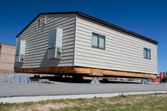 Portable Building. Image of a school portable building ready to move Royalty Free Stock Image