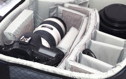 Portable camera bag Royalty Free Stock Images