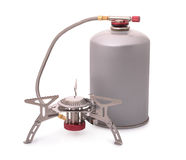 Portable camping burner stove Stock Photography