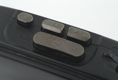 Portable casette player macro Royalty Free Stock Photo