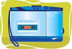 Portable Cassette Player On An Royalty Free Stock Photo