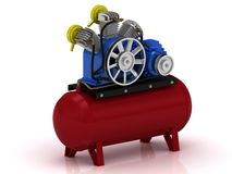 Portable compressor Royalty Free Stock Photography