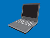 Portable computer. A laptop with isolated background vector illustration