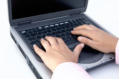 Portable computer Royalty Free Stock Photo