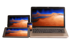 Portable computer devices Royalty Free Stock Image