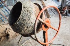 Portable concrete mixer. Close up photo Stock Images