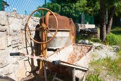 Portable concrete mixer. On-site and portable concrete mixers Stock Photos