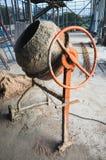 Portable concrete or mortar mixer closeup Royalty Free Stock Images
