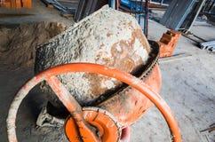 Portable concrete or mortar mixer Stock Photo