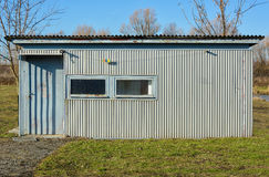 Portable construction steel building Royalty Free Stock Photo