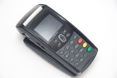 Portable Contactless Credit Card Terminal on Base Royalty Free Stock Image