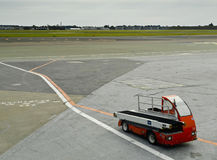 Portable Conveyer Belt. In the Copenhagen airport (Kastrup Stock Photo