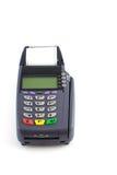 Portable Credit Card Terminal on Base. Portable Contactless Credit Card Terminal on Base Royalty Free Stock Image