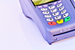 Portable Credit Card Terminal Royalty Free Stock Photo