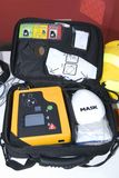 Portable defibrillator for hearth Stock Photography
