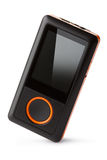 Portable digital audio player. Placed on white background Stock Photos