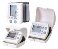 Portable digital blood pressure monitor. royalty free stock images