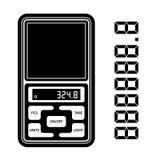 Portable digital weight scale black symbol Stock Photos