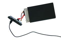 Portable disassembled external hard drive Stock Image