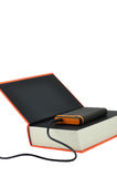 Portable Disk on Book Stock Photography
