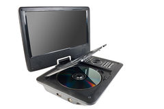 Portable dvd player Stock Image