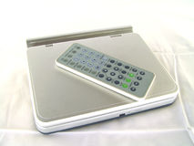 Portable DVD Player. With remote Royalty Free Stock Photography