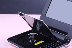 Portable DVD player royalty free stock image