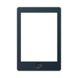 Portable e-book reader with two clipping path for book and screen. You may add your own text or picture. Stock Image