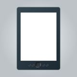 Portable e-book reader with two clipping path for book and screen. You may add your own text or picture. Royalty Free Stock Photography