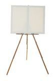 Portable easel with blank canvas Stock Image