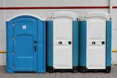 Portable ecological toilets Royalty Free Stock Photos
