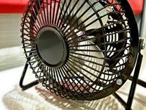 Portable electric fan. Portable electic fan used on desktop Stock Image
