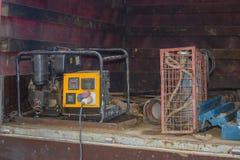 Portable electric generator royalty free stock photo