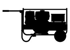 Portable electric generator. Side view. Flat vector Royalty Free Stock Image