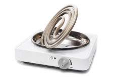 Portable electric stove Royalty Free Stock Photo