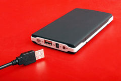 Portable external hard disk Royalty Free Stock Photography