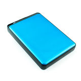 Portable External Hard Drive Disk isolated. On white Royalty Free Stock Image