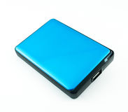 Portable External Hard Drive Disk isolated. On white Royalty Free Stock Photography