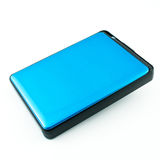 Portable External Hard Drive Disk isolated. On white Royalty Free Stock Images