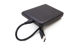 Portable external HDD Royalty Free Stock Photography