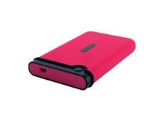 Portable external HDD hard disk drive. With USB connector Stock Photos
