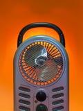 Portable Fan Heater. An upright, portable electric fan heater Stock Images