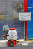 Portable fire-extinguishing system. NIZHNY TAGIL, RUSSIA - SEP 25, 2013: The international exhibition of armament, military equipment and ammunition RUSSIA ARMS Royalty Free Stock Images