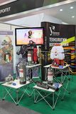 Portable fire-extinguishing systems. NIZHNY TAGIL, RUSSIA - SEP 25, 2013: The international exhibition of armament, military equipment and ammunition RUSSIA ARMS Stock Photo