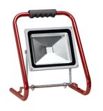 Portable floodlight. A portable floodlight in white back Stock Images