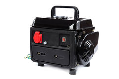 Portable fuel electric generator on white background Royalty Free Stock Photography